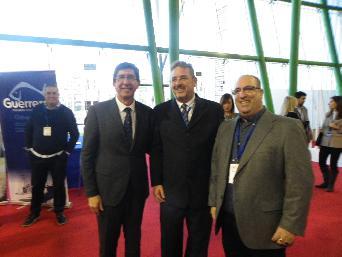 Juan Marín, Vicepresidente Junta Andalucía, Jaime Touchard, Director Mercamalaga y Rafael Jimenez, de Ampesme